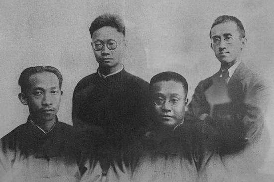 1-1童庸生烈士(左二)和吴玉章(左一)杨闇公(右一)、.jpg