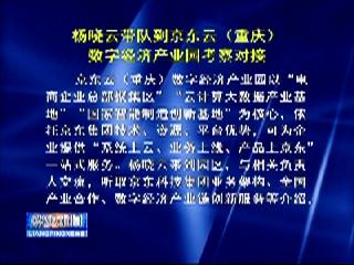 杨晓云带队到京东云(重庆)数字经济产业园考察对接