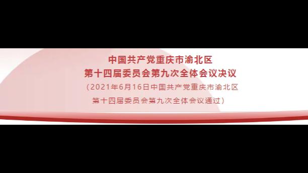 中国共产党重庆市渝北区第十四届委员会第九次全体会议决议(全文)