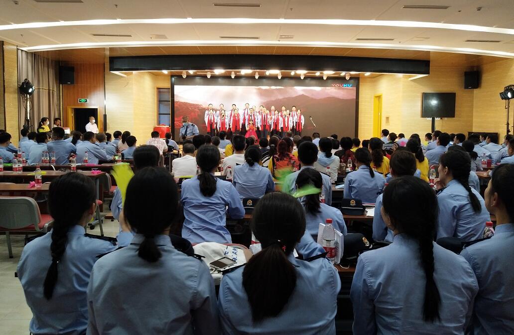 县税务局举办庆祝建党100周年歌咏比赛