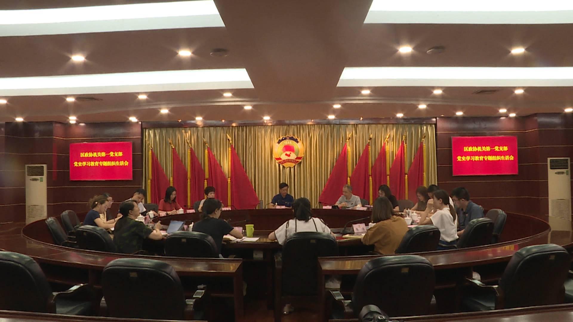 区政协机关第一党支部党史学习教育专题组织生活会举行