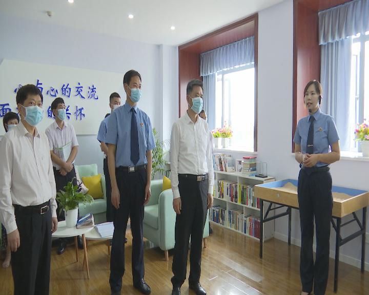 市人大常委会副主任周旬率队来黔江开展执法检查