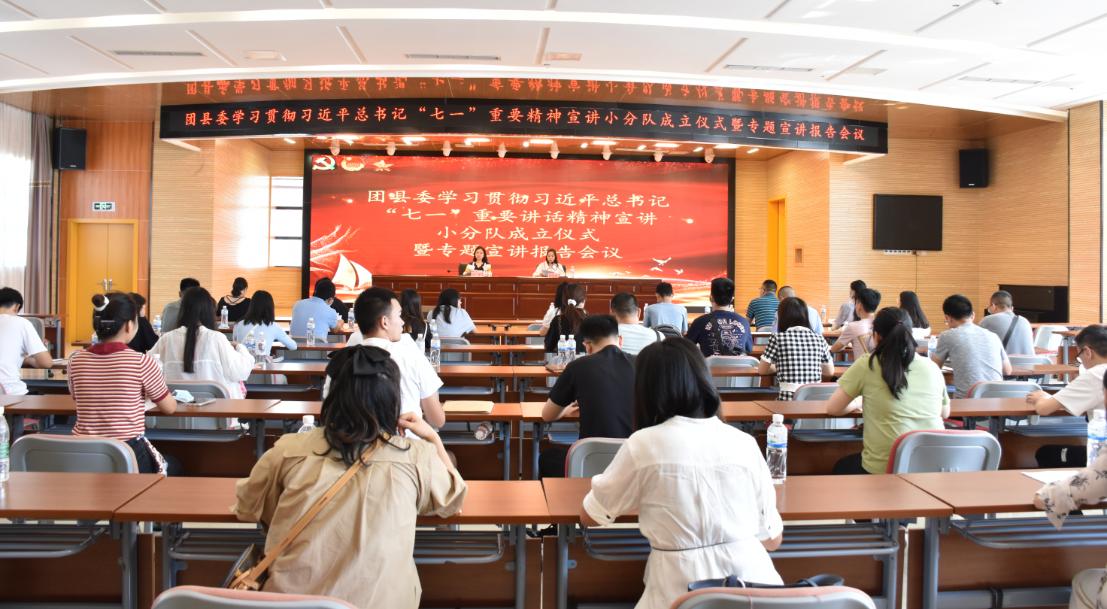 """团县委成立小分队宣讲习近平总书记""""七一""""重要讲话精神"""
