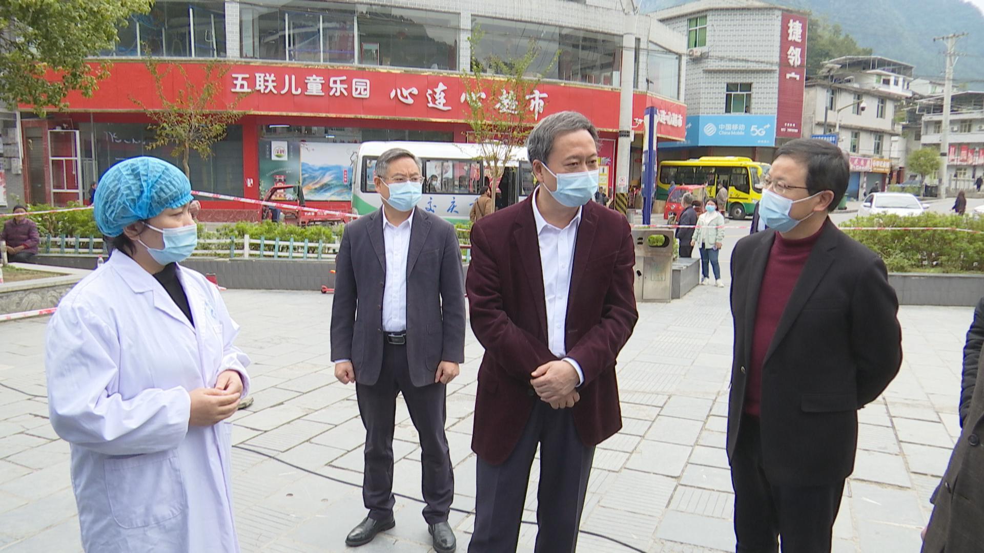 徐江到城东街道石会镇中塘镇检查疫情防控工作